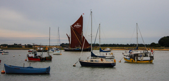 Cluster of boats at Felixstowe Ferry